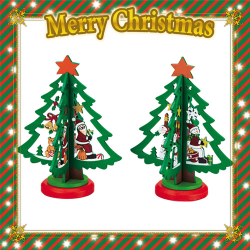 2016年素朴な味わいのシンプルなミニクリスマスツリーです。